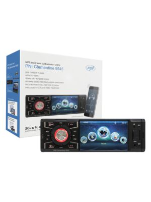 Reproductor MP5 Clementine 9545 1DIN pantalla 4 pulgadas, 50Wx4, Bluetooth, radio FM, SD y USB, 2 RCA video IN / OUT